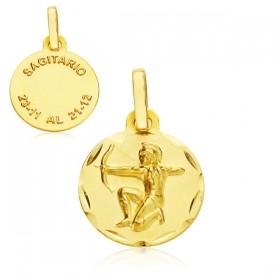 Medalla Horóscopo Sagitario de oro de 18 quilates