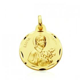 Medalla de Santa Gema de oro de 18 quilates