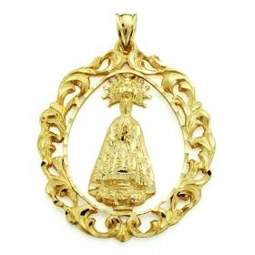 Medalla de la Virgen de la Asunción de oro de 18 quilates