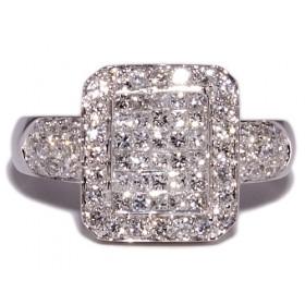 Anillos de oro blanco con 74 diamantes