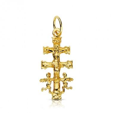 Cruz de Caravaca de oro de 18 quilates