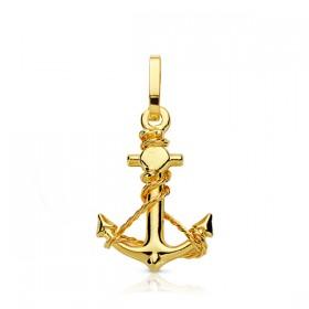 Cruz marinera de oro de 18 quilates