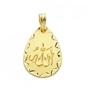 Medalla árabe de oro de 18 quilates