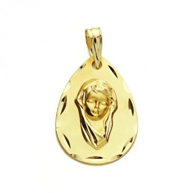 Medalla Comunión de oro de 18 quilates