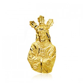 Medalla Cristo Cautivo realizada en oro de 18 quilates
