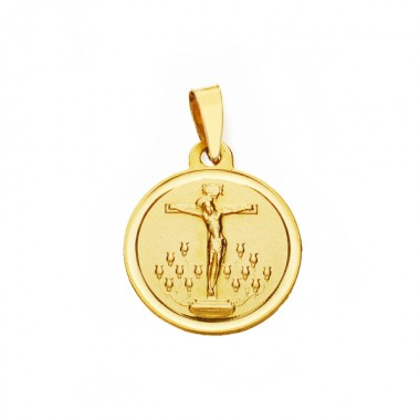 Medalla Cristo de la Laguna de oro de 18 quilates