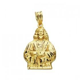 Medalla Cristo de Medinaceli realizada en oro de 18 quilates