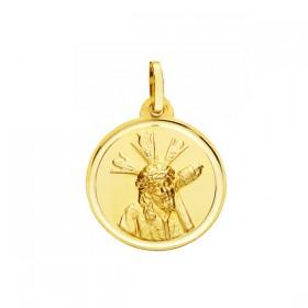 Medalla Cristo del Gran Poder de oro de 18 quilates
