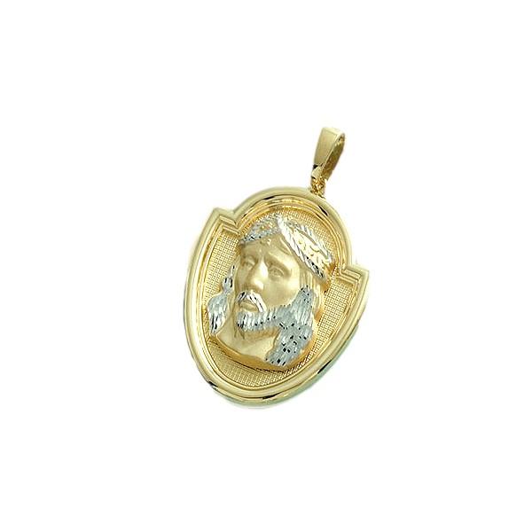 Medalla colgante de la santa faz cara de cristo en oro for Que es una beta de oro