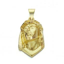 Medalla de la Santa Faz de Cristo de oro de 18 quilates