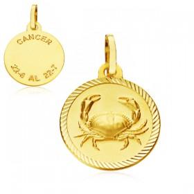 Medalla Horóscopo Cáncer de oro de 18 quilates