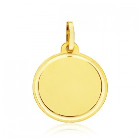 Medalla lisa de oro de 18 quilates
