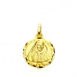 Medalla de Santa Ángela de la Cruz de oro de 18 quilates