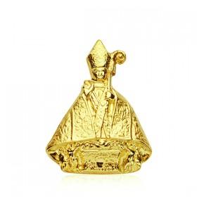 Medalla de San Fermín de oro de 18 quilates