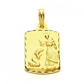 Medalla de la Bendición de San Francisco de oro de 18 quilates