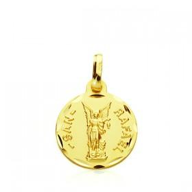 Medalla de San Rafael de oro de 18 quilates