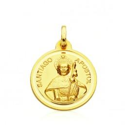 Medalla de Santiago Apóstol de oro de 18 quilates