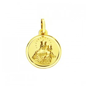 Medalla de la Virgen Auxiliadora de oro de 18 quilates