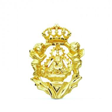 Medalla de la Virgen de la Cabeza de oro de 18 quilates