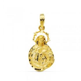 Medalla de la Virgen de la Inmaculada de oro de 18 quilates