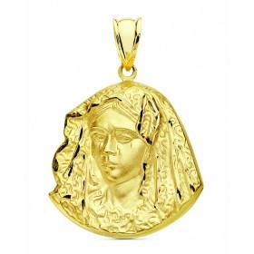 Medalla de la Virgen de la Macarena de oro de 18 quilates