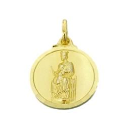Medalla de la Virgen de la Merced de oro de 18 quilates