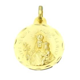Medalla de la Virgen de la Oliva de oro de 18 quilates