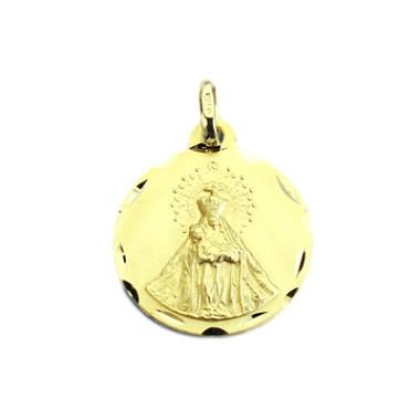 Medalla de la Virgen de la Piedad de Baza de oro de 18 quilates