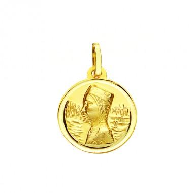 Medalla de la Virgen de Montserrat de oro de 18 quilates
