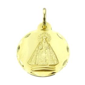 Medalla de la Virgen de Tiscar de oro de 18 quilates