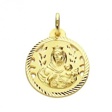 Medalla de la Virgen del Carmen de oro de 18 quilates