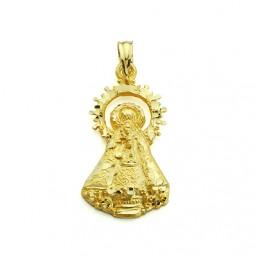 Medalla de la Virgen del Castellar de oro de 18 quilates