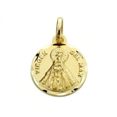 Medalla de la Virgen del Mar de oro de 18 quilates