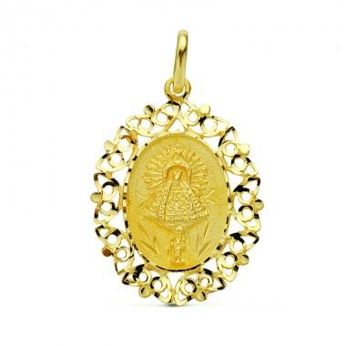 Medalla de la Virgen del Pilar de oro de 18 quilates