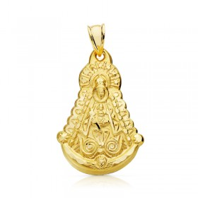 Medalla de la Virgen del Rocío de oro de 18 quilates
