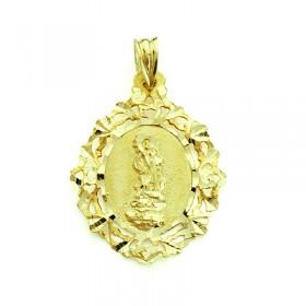Medalla de la Virgen del Saliente de oro de 18 quilates