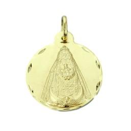 Medalla de la Virgen Negra de oro de 18 quilates