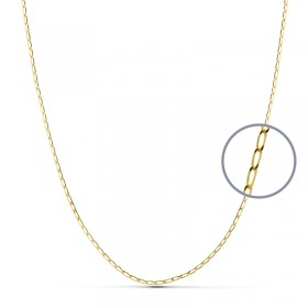 Cadena bilbao de oro de ley de 18 quilates
