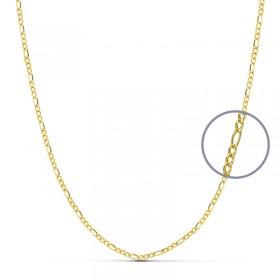 Cadena programada de oro de ley de 18 quilates