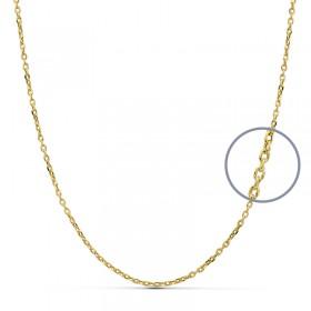 Cadena forzada de oro de ley de 18 quilates