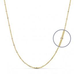 Cadena diamantada de oro de ley de 18 quilates