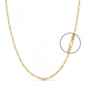 Cadena programada maciza de oro de ley de 18 quilates