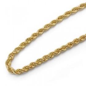 Cadena cordón salomónico de oro de ley de 18 quilates