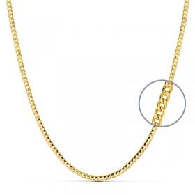 Cadena barbada de oro de ley de 18 quilates