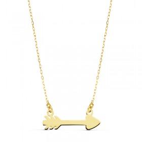 Gargantilla flecha de Cupido en oro de primera ley de 18 quilates