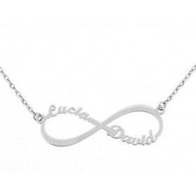 White gold Infinity pendant