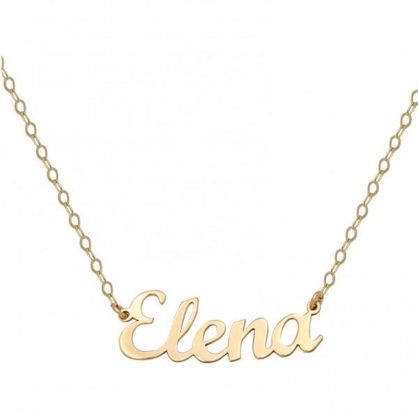 dd5f49c1be9e Colgante nombre personalizado con cadena en oro de primera ley de 18  quilates