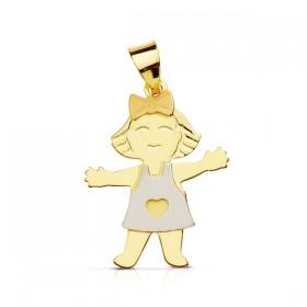 Colgante  Niña en oro de primera ley de 18 quilates