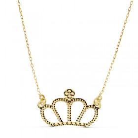 Colgante princesa con cadena en oro de primera ley