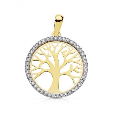 Colgante Árvol de la Vida en oro de primera ley de 18 quilates